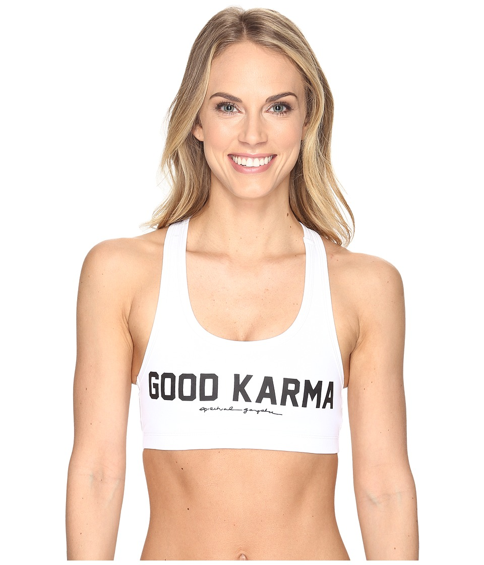 Spiritual Gangster - Good Karma Athletic (White) Women's Workout
