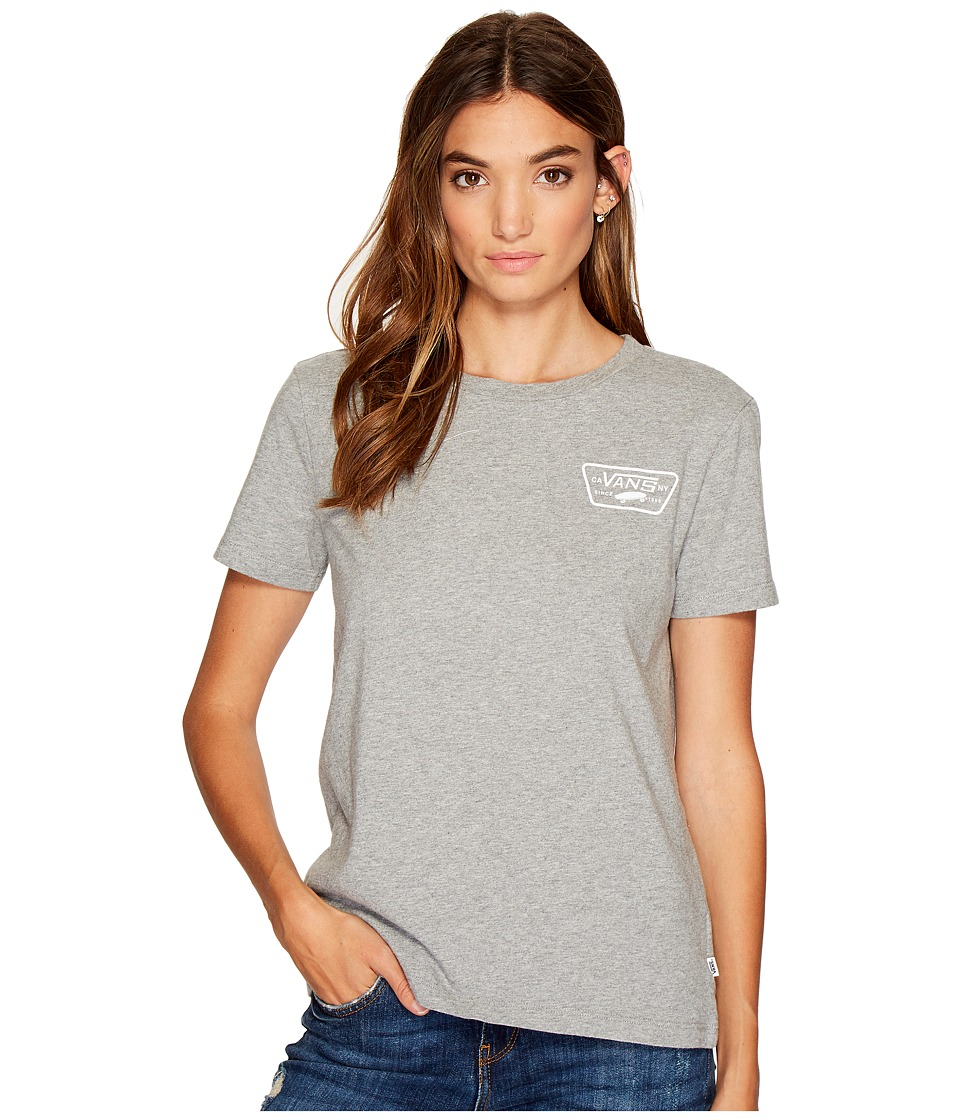 Vans - Full Patch Crew (Grey Heather) Women's Short Sleeve Pullover
