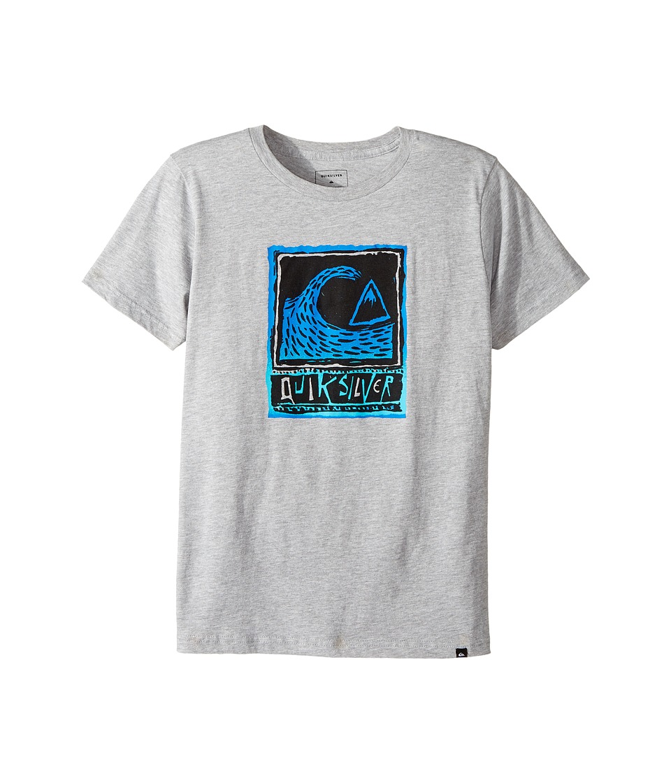 Quiksilver Kids - Peaks Tee (Big Kids) (Athletic Heather) Boy's T Shirt