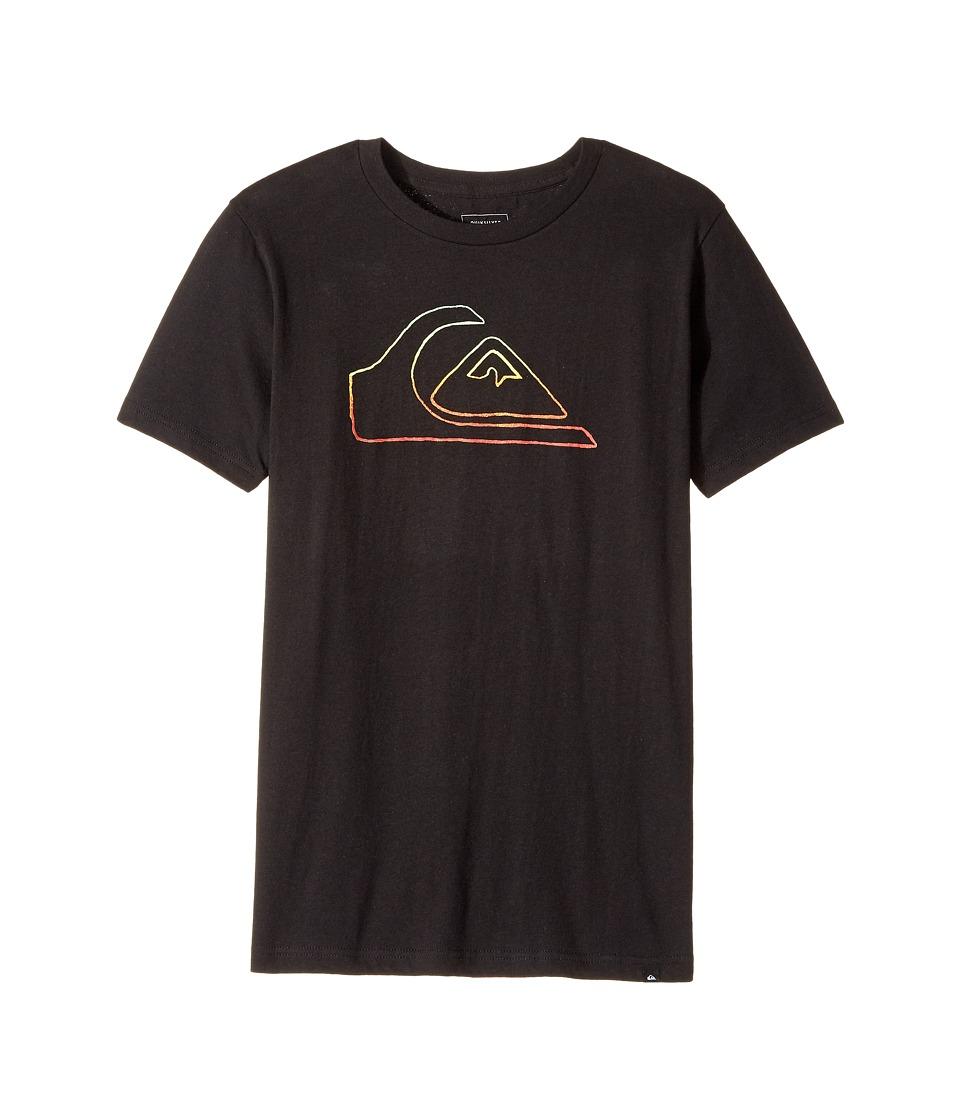 Quiksilver Kids - Jungle Mountain Tee (Big Kids) (Black) Boy's T Shirt