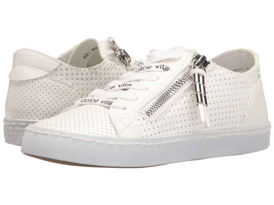 Dolce Vita Kids - Zeb (Little Kid/Big Kid) (White Stella) Girl's Shoes