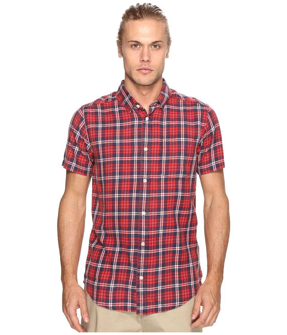 RVCA - Sid Short Sleeve Woven (Pompei Red) Men's Clothing