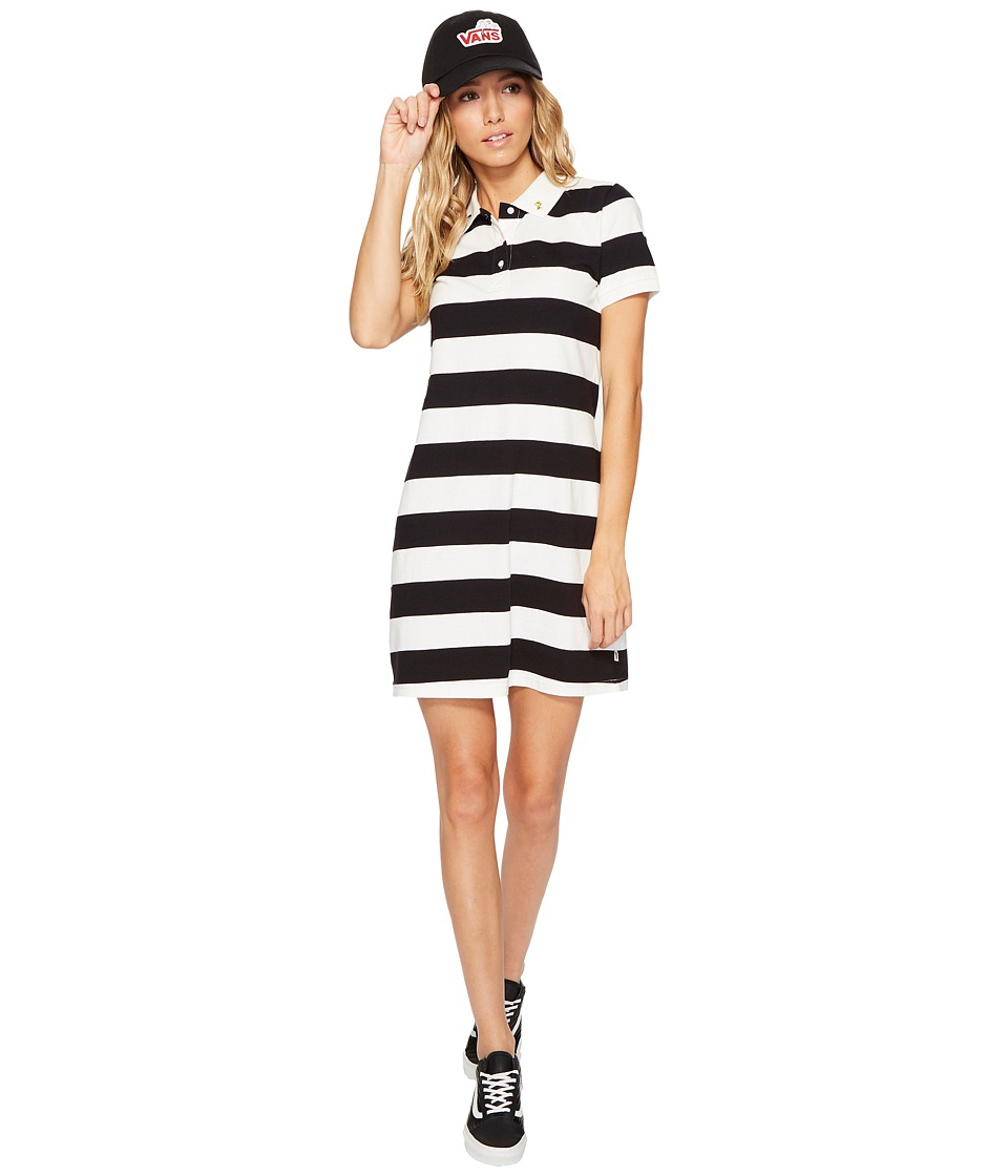 Vans - Peanuts Polo Dress (White/Black) Women's Dress