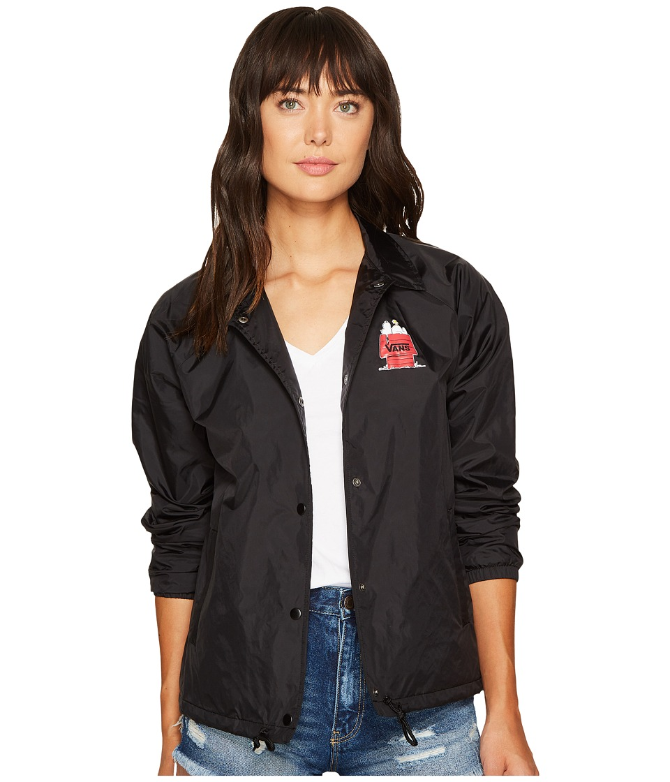 Vans - Snoopy Skates Coaches Jacket (Black) Women's Coat