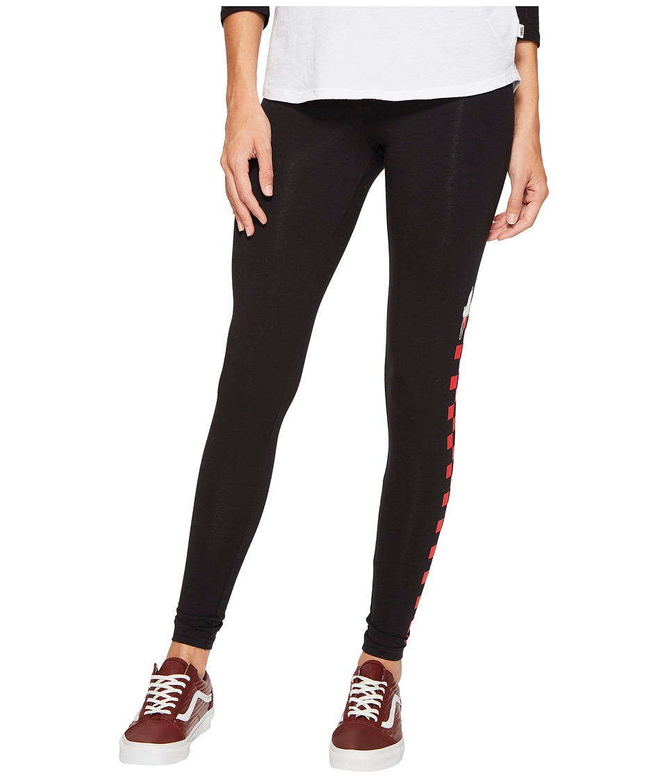 Vans - Snoopy Leggings (Black) Women's Casual Pants