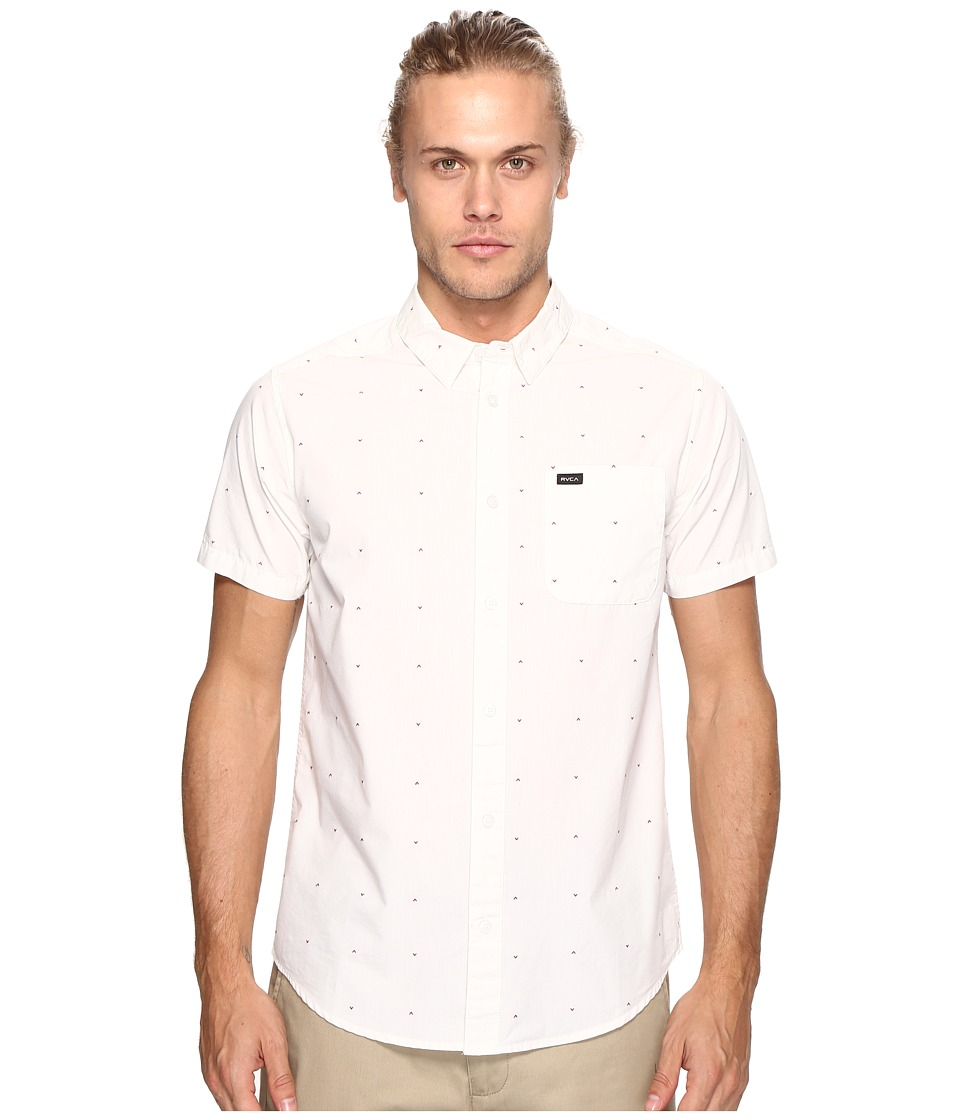 RVCA - VA Dobby Short Sleeve (Antique White) Men's Clothing