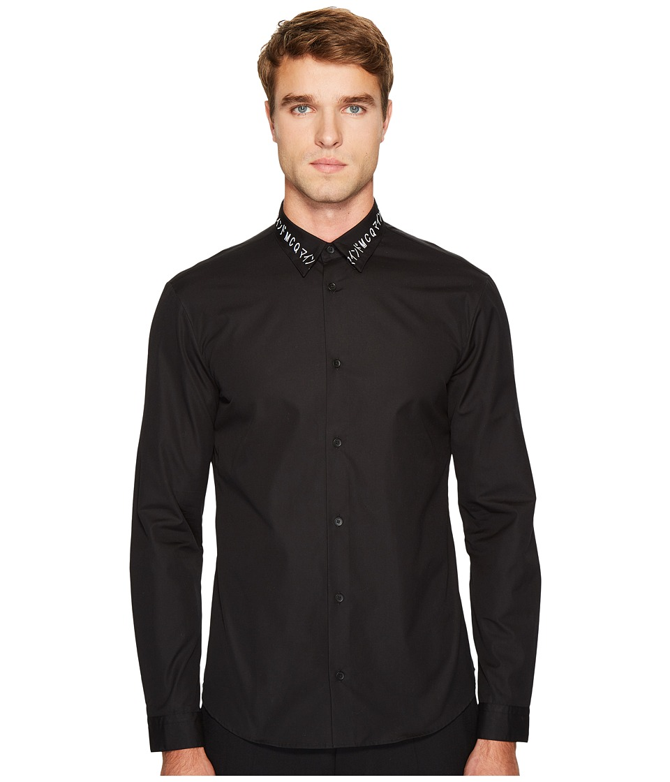McQ - Googe Button Down (Darkest Black) Men's Clothing