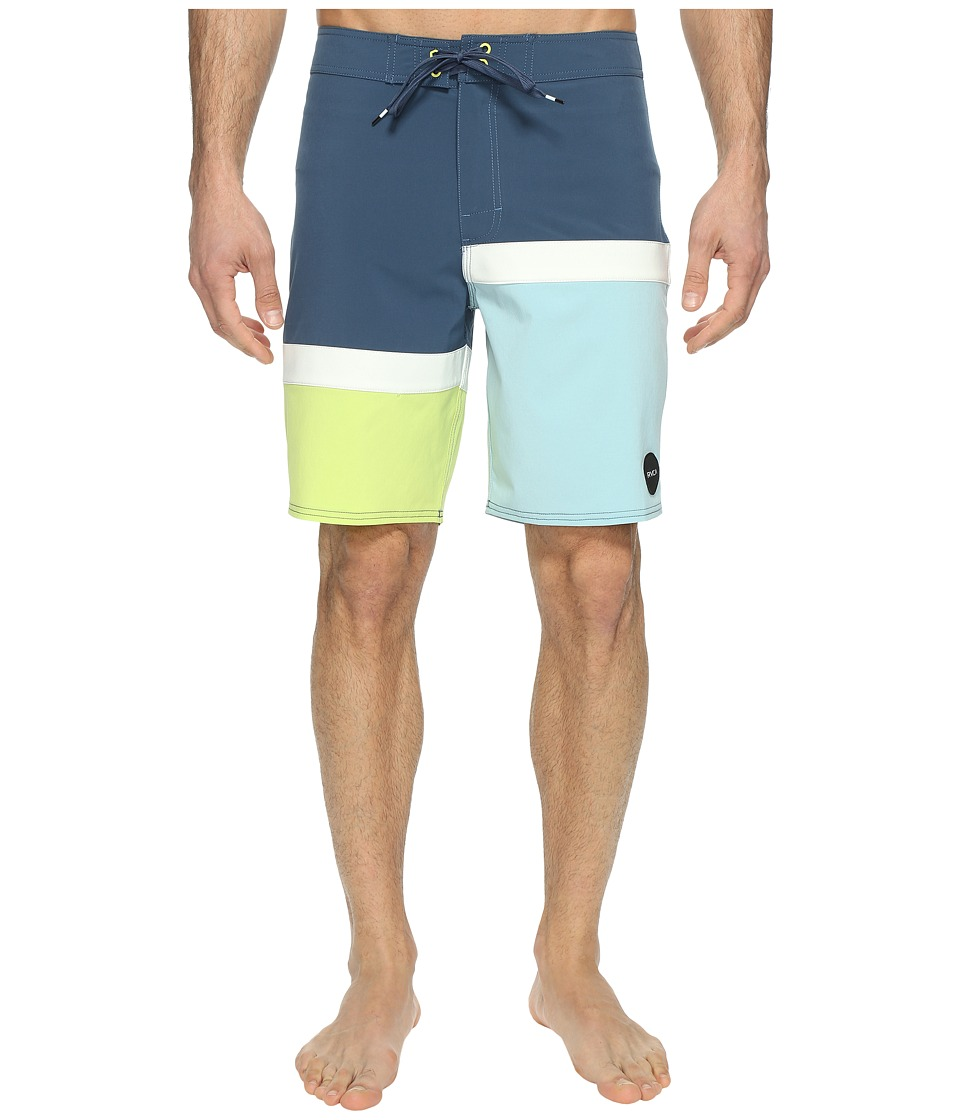 RVCA - Blocka Trunk (Dark Denim) Men's Swimwear