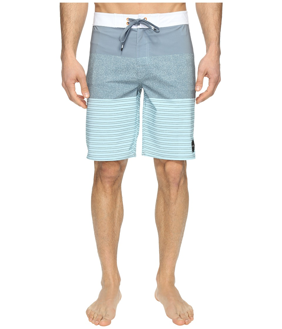 RVCA - Sinner Stripe Trunk (Blue Slate) Men's Swimwear