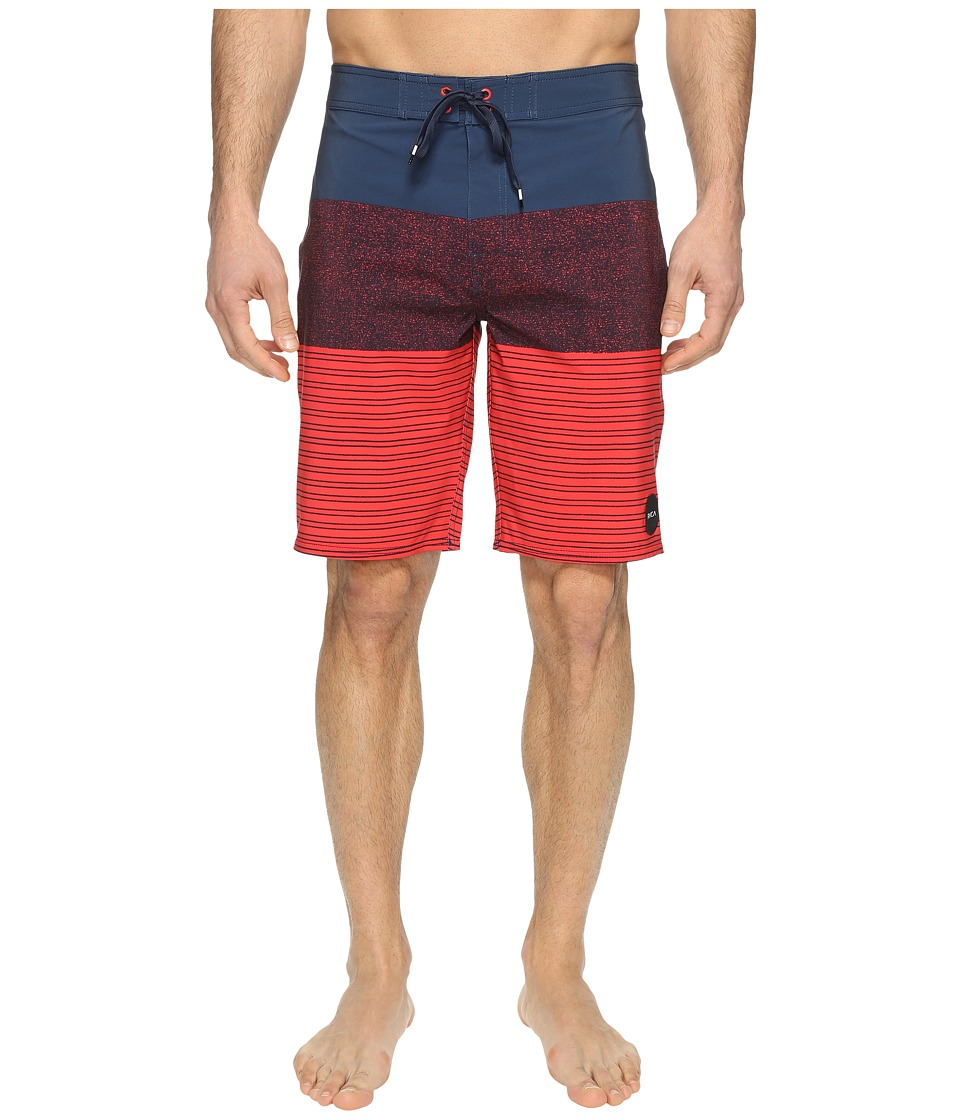 RVCA - Sinner Stripe Trunk (Federal Blue) Men's Swimwear