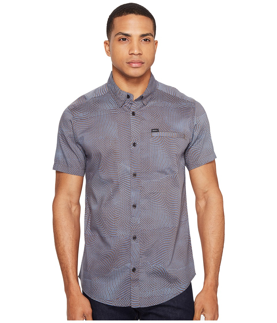 RVCA - Heat Wave Short Sleeve Woven (Greyskull) Men's Clothing