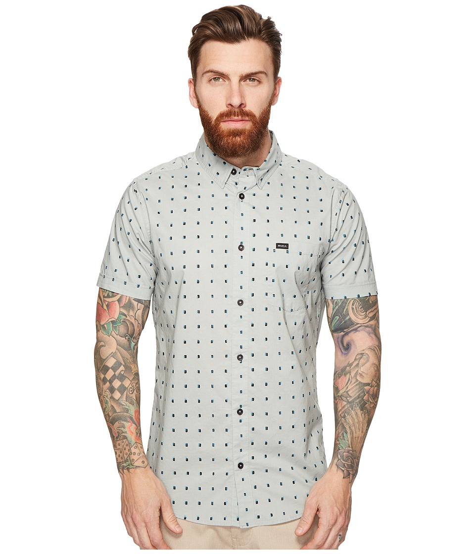 RVCA - Tabs Short Sleeve Woven (Mirage) Men's Clothing
