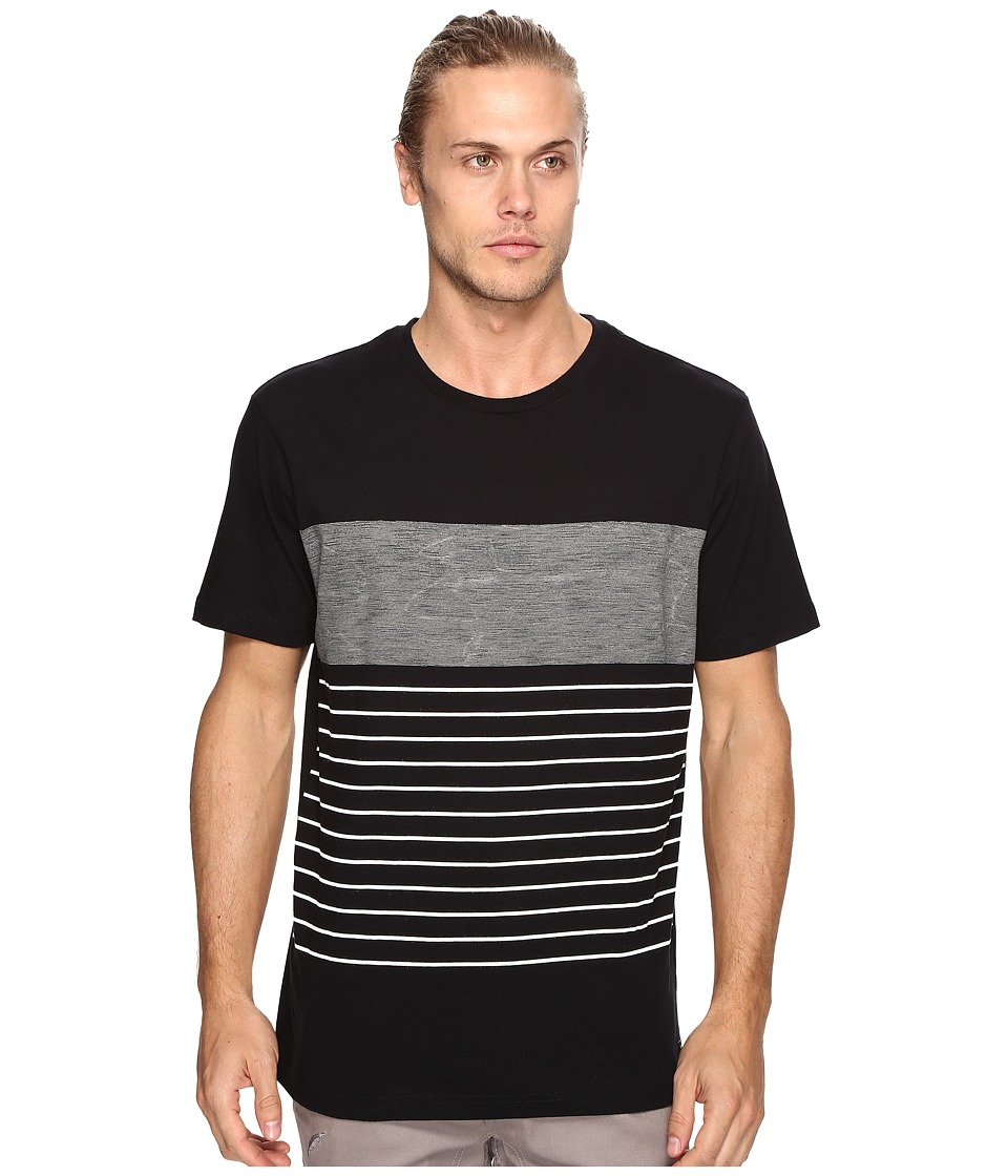 RVCA - Static Stripe Knit (Black) Men's Clothing