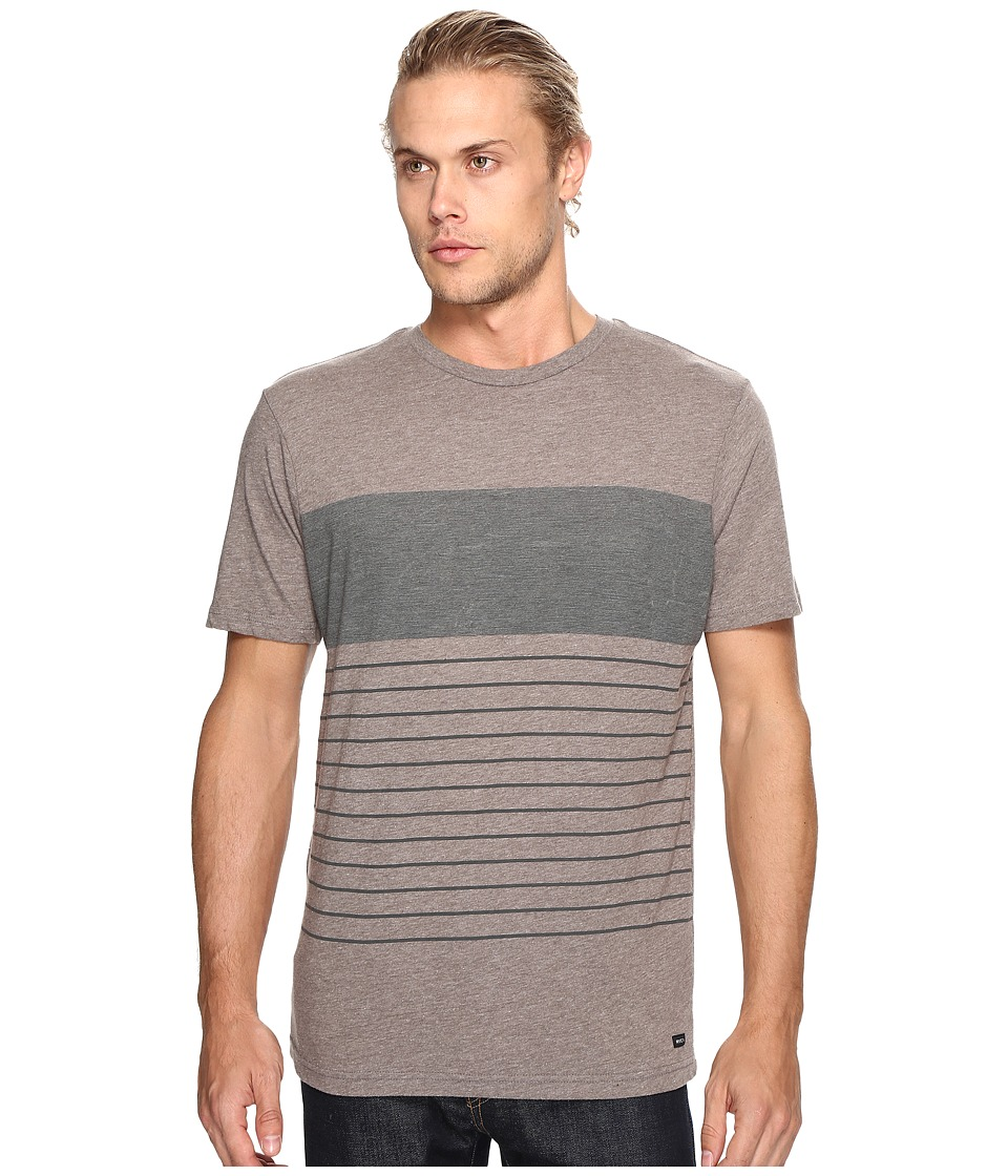 RVCA - Static Stripe Knit (Grey Noise) Men's Clothing