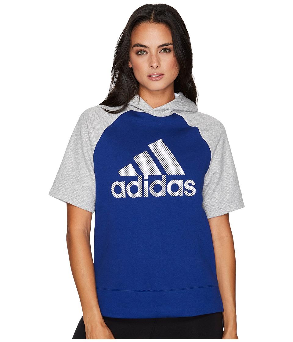 adidas - Fashion Hoodie (Mystery Ink F17/Medium Grey Heather/Noble Ink F17) Women's Sweatshirt