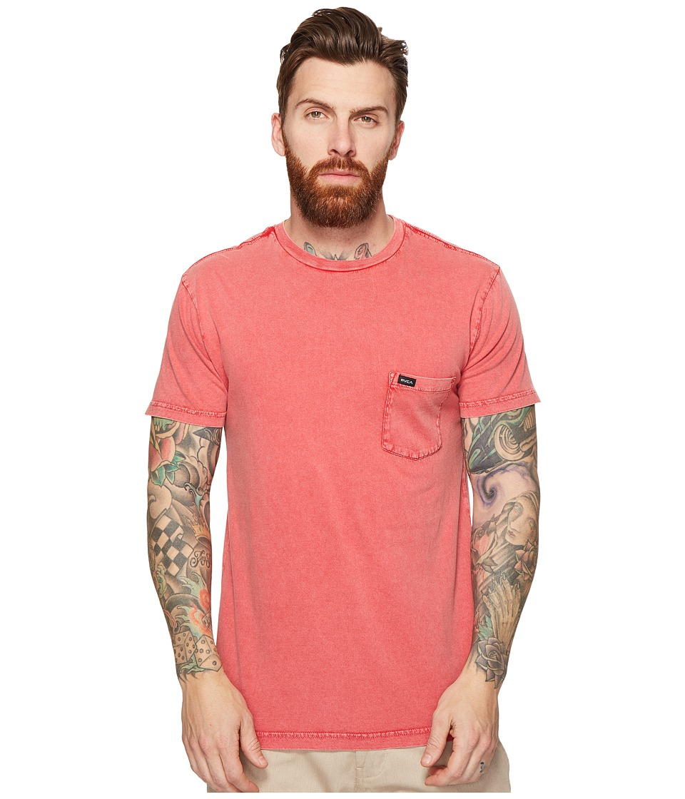 RVCA - PTC Fade Knit (Poppy Red) Men's Clothing