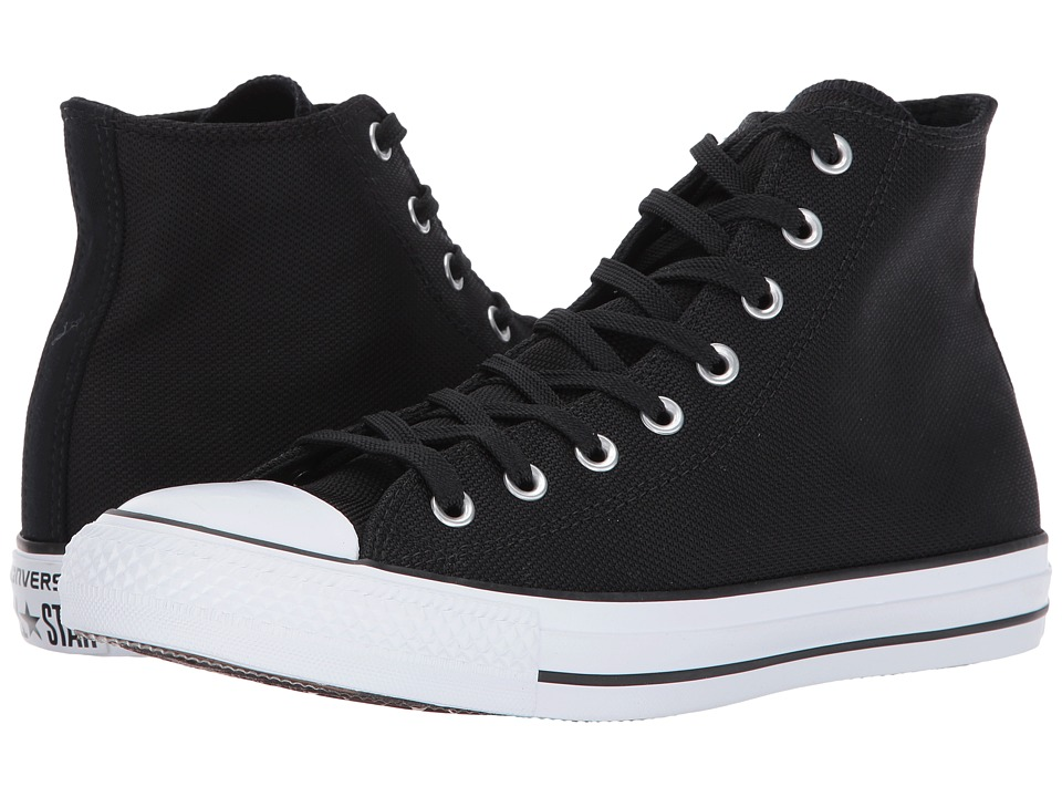 Converse - Chuck Taylor(r) All Star(r) Seasonal Color Hi (Black/Black/White) Lace up casual Shoes