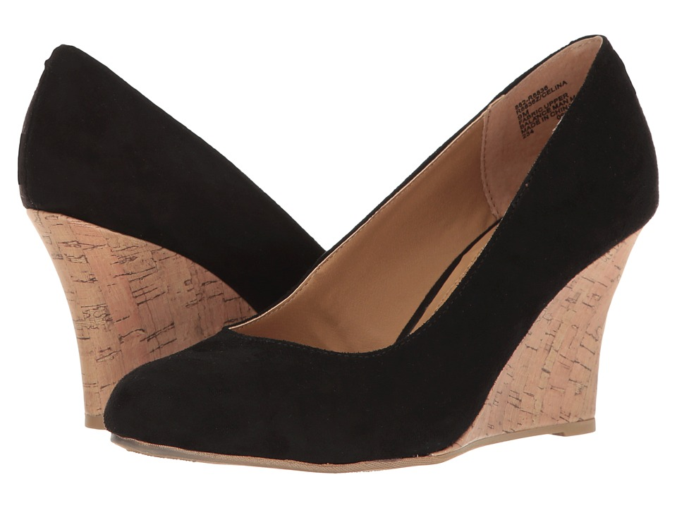 Rialto - Celina (Black Suedette) Women's Shoes