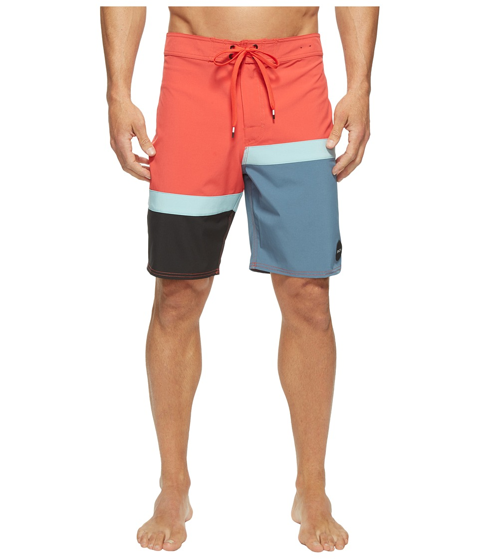 RVCA - Blocka Trunk (Poppy Red) Men's Swimwear