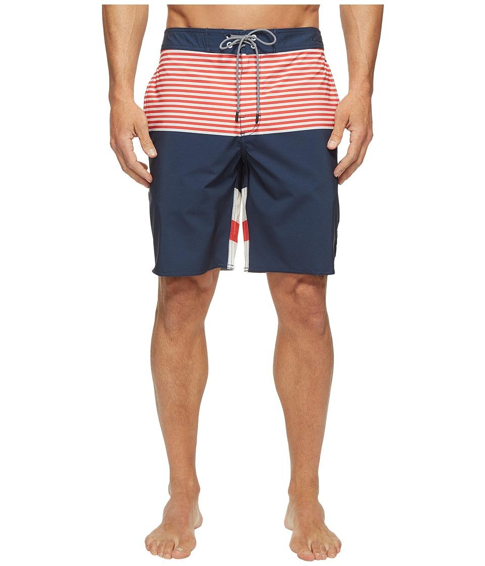 RVCA - Vice Tri Trunk (Federal Blue) Men's Swimwear