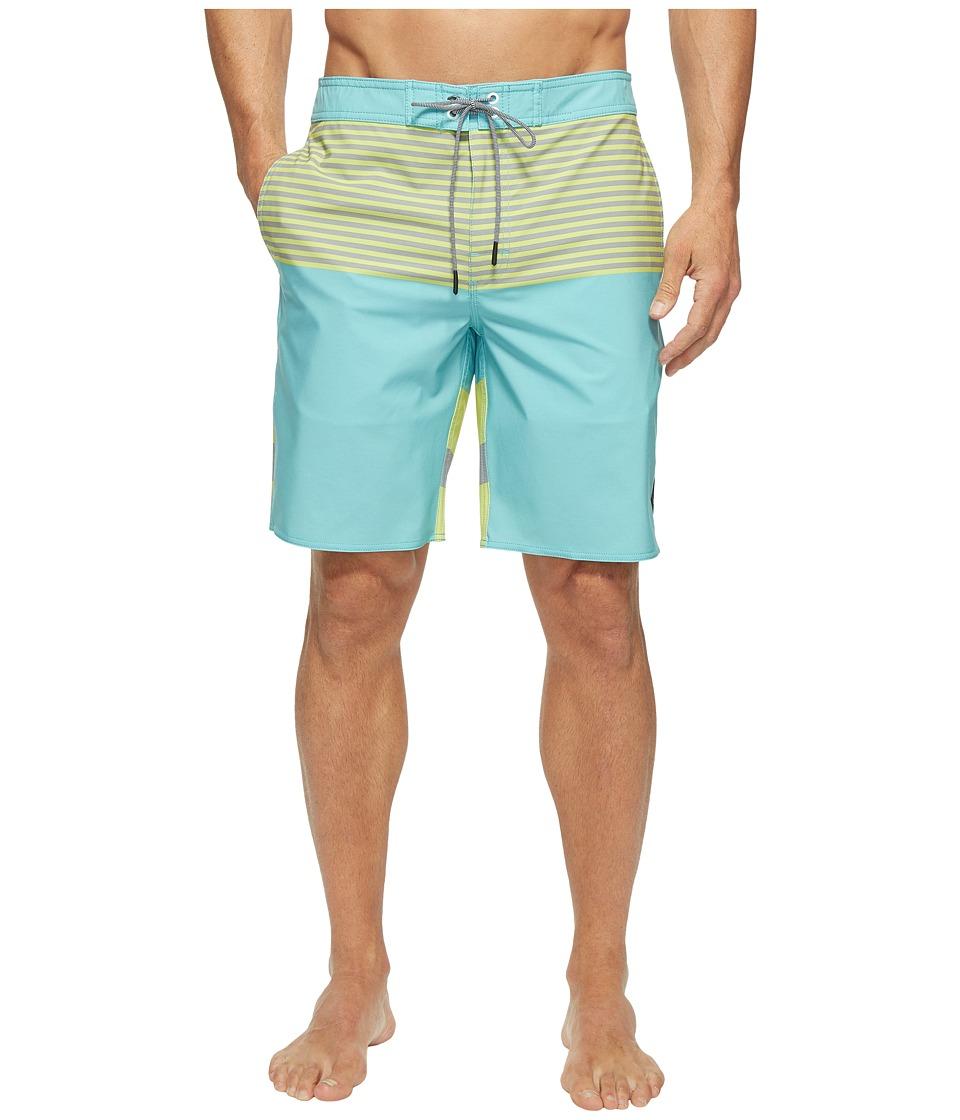 RVCA - Vice Tri Trunk (Nile Blue) Men's Swimwear