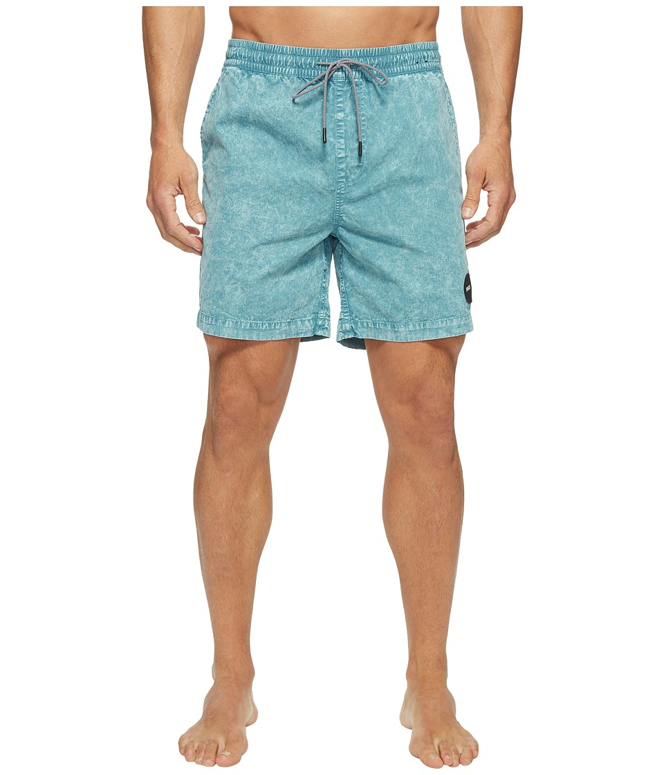 RVCA - Fade Elastic Trunk (Nile Blue) Men's Swimwear