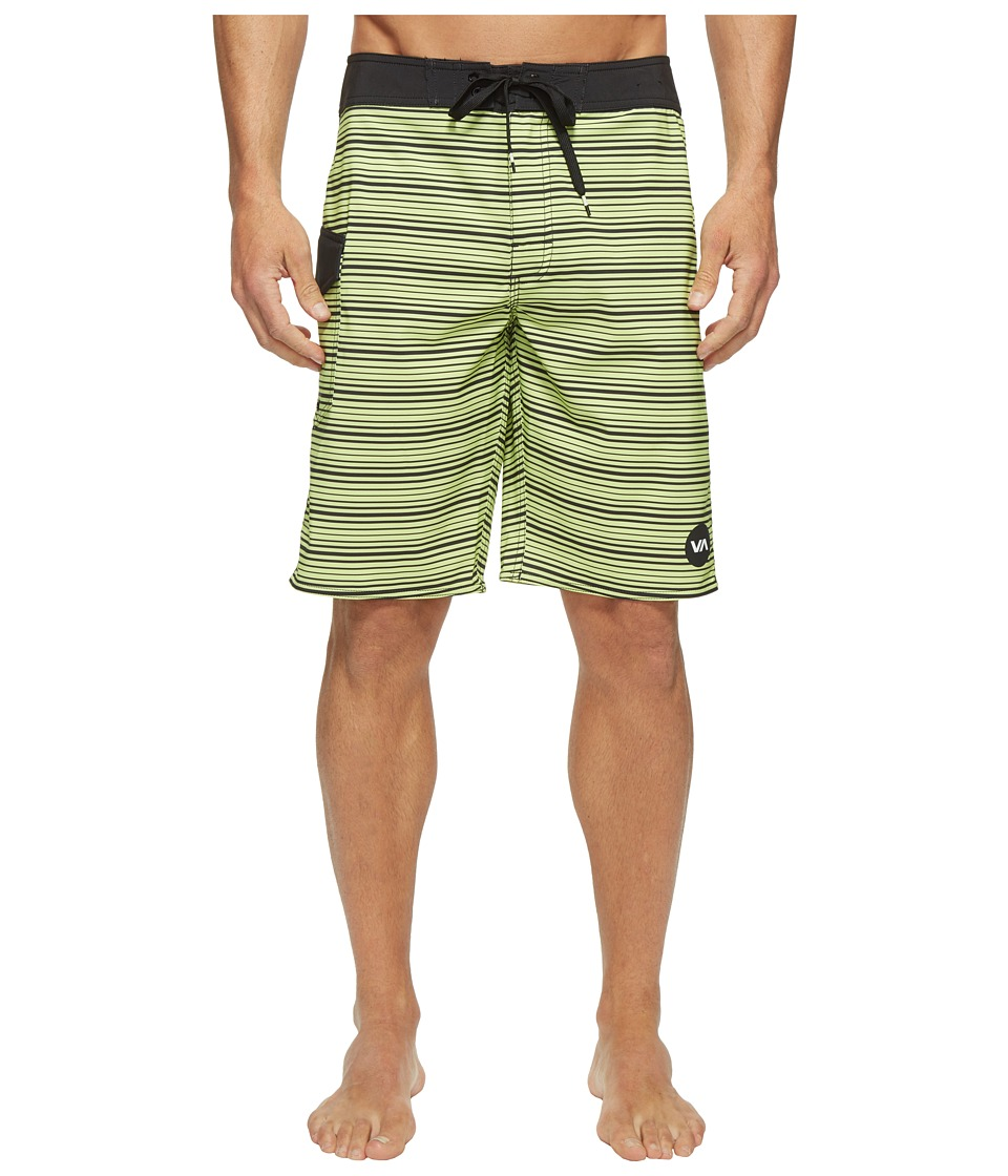 RVCA - Line O Sight Trunk (Fluro Lime) Men's Swimwear