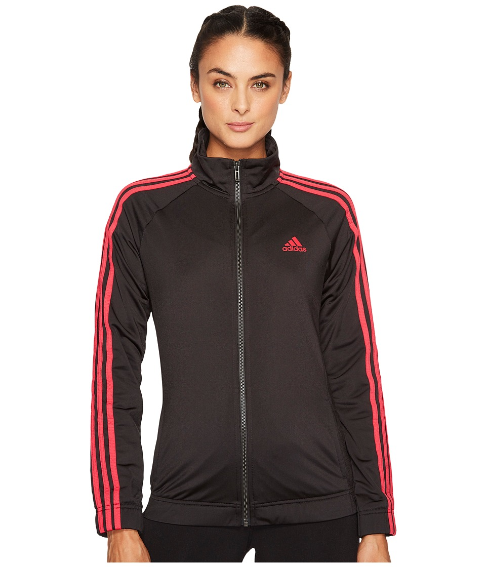 adidas - D2M Track Jacket (Black/Energy Pink F17) Women's Coat