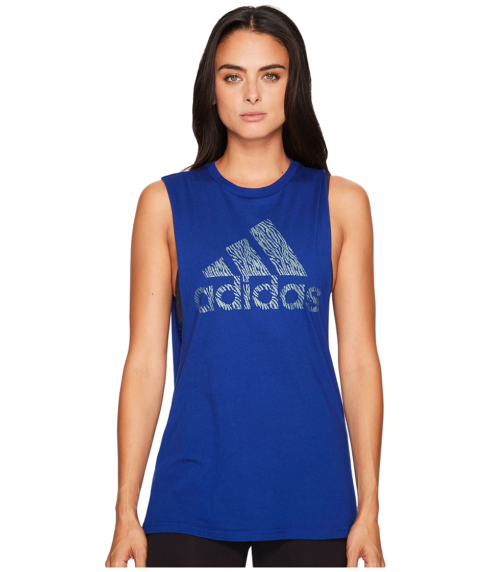 adidas Badge of Sport Digicraft Muscle Tank Top (Mystery Ink F17) Women