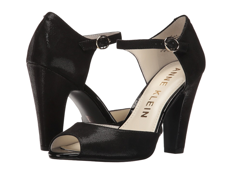 Anne Klein - Henrika (Black Fabric) Women's Shoes