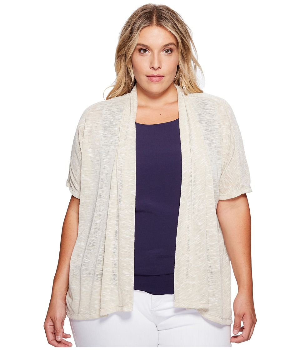 B Collection by Bobeau Curvy - Plus Size Helena Cardigan (Oatmeal) Women's Sweater
