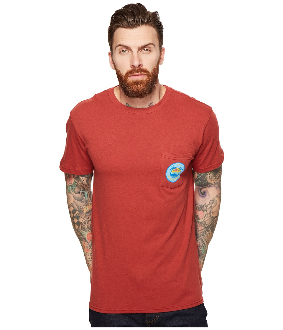RVCA - Island Pocket Tee (Rosewood) Men's T Shirt