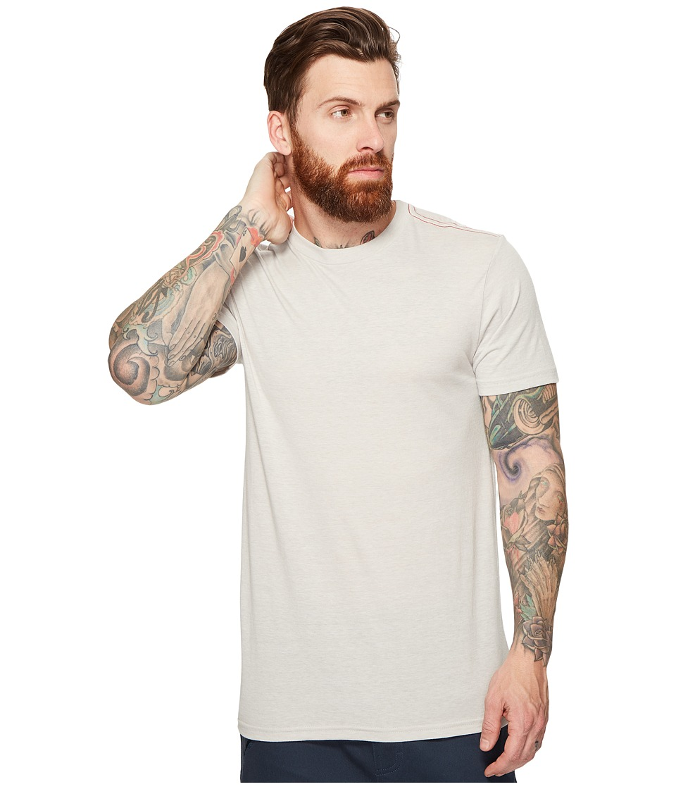 RVCA - Label Vintage Dye Tee (Warm Grey) Men's T Shirt