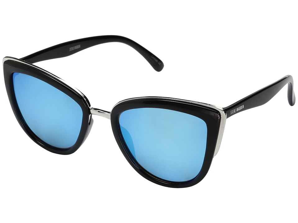 Steve Madden - Gwen (Black/Blue) Fashion Sunglasses
