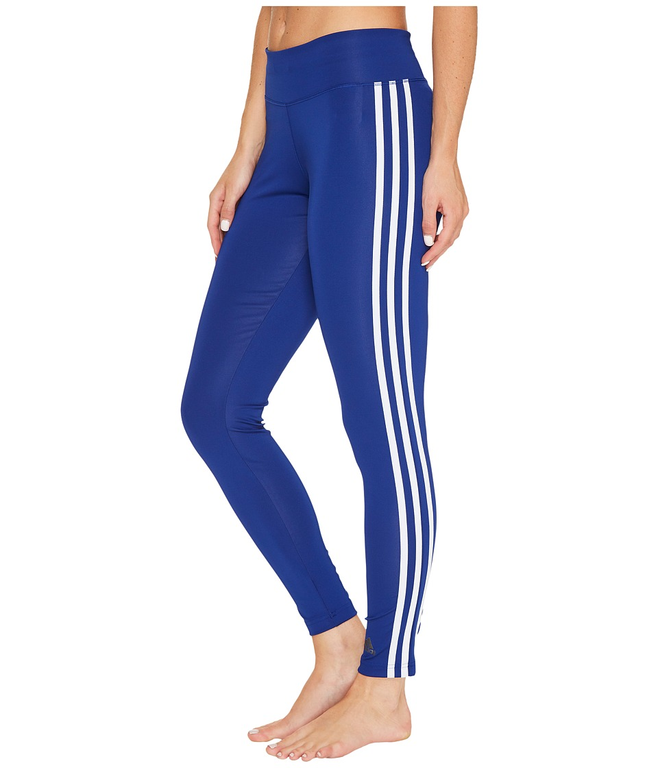 adidas - D2M 3S Long Tights (Mystery Ink F17/White) Women's Workout