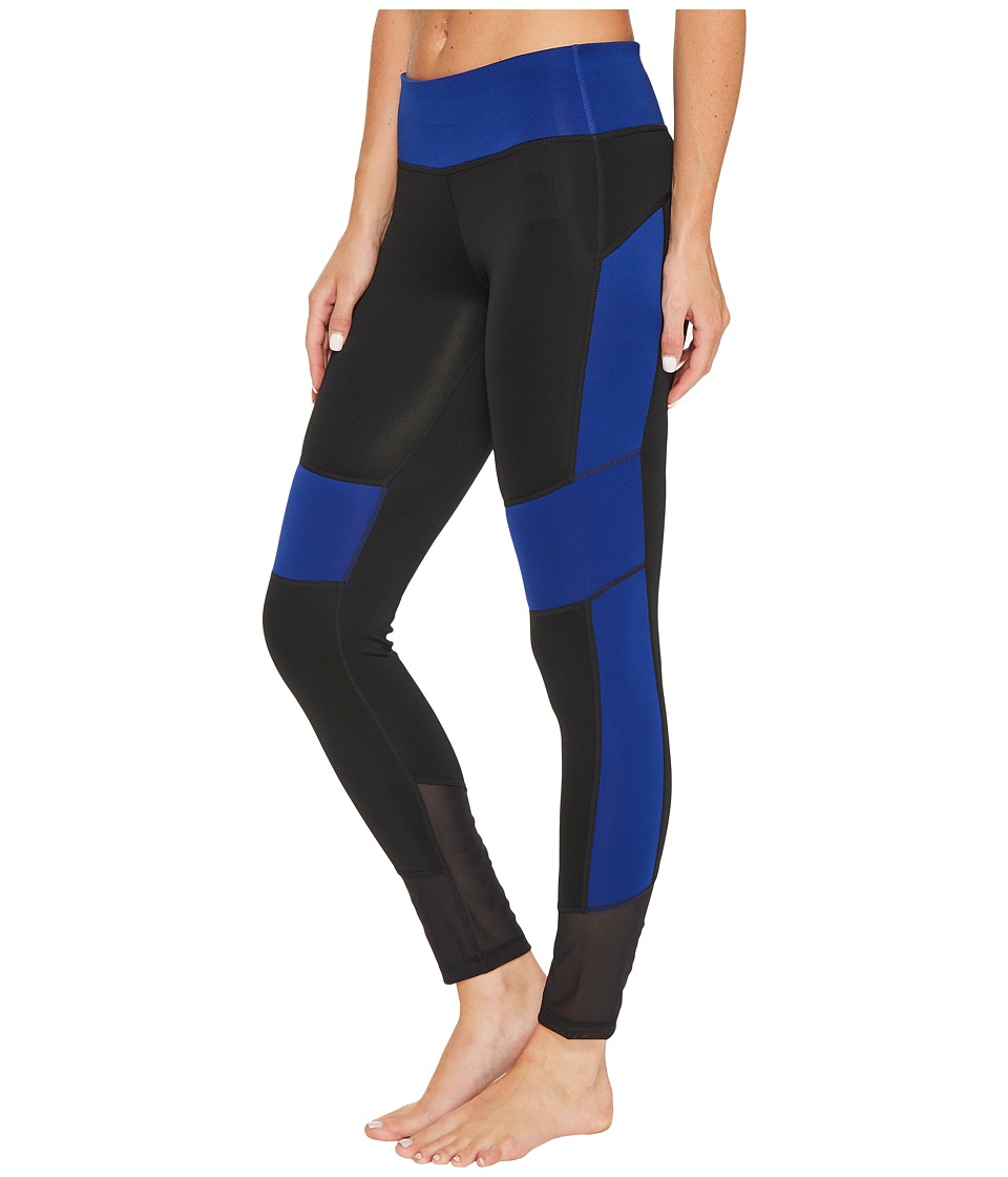 adidas - D2M Mix 7/8 Tights (Black/Mystery Ink F17) Women's Workout