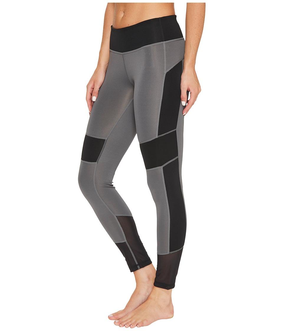 adidas - D2M Mix 7/8 Tights (Grey Five F17/Black) Women's Workout