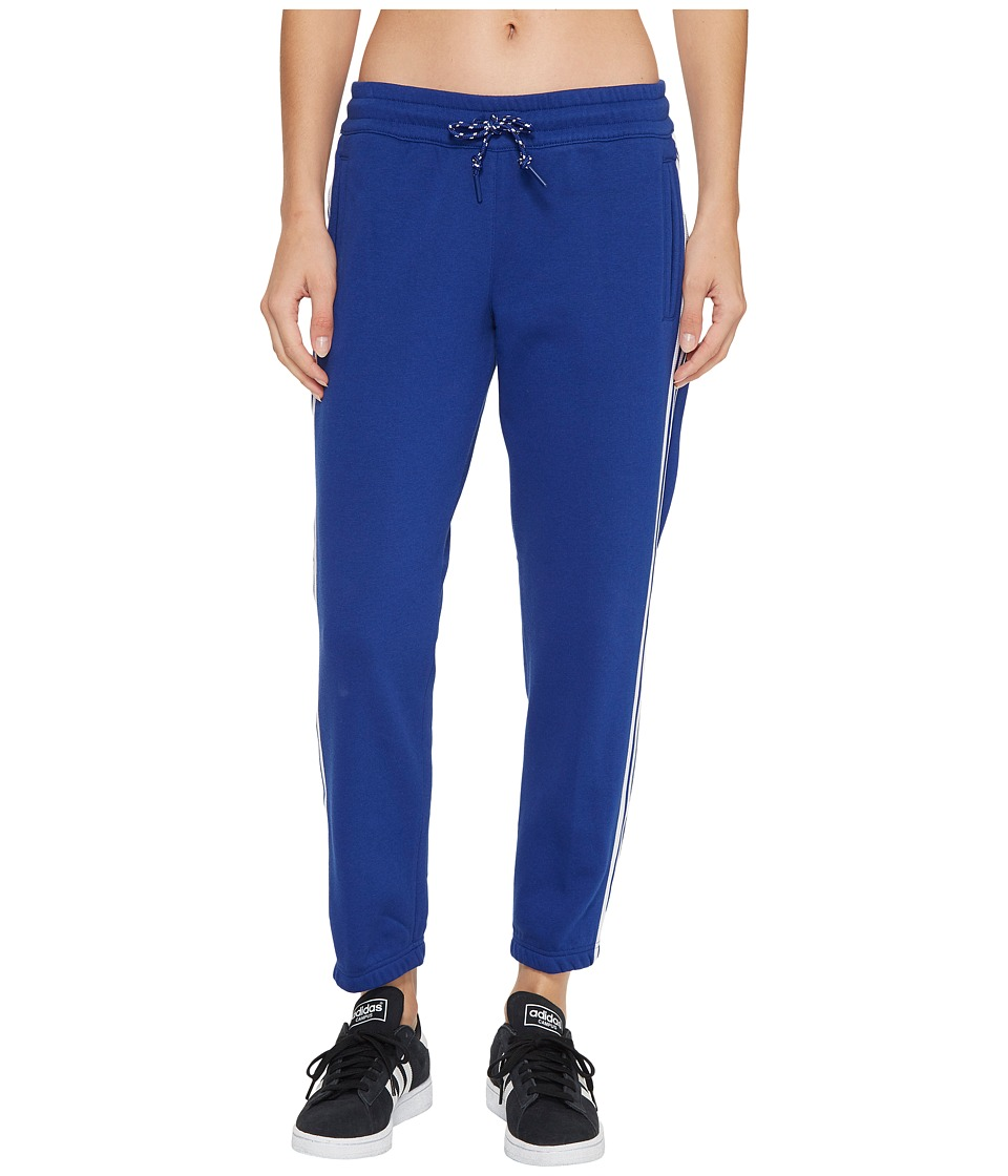 adidas - 3-Stripes Tapered 7/8 Pants (Mystery Ink F17) Women's Casual Pants