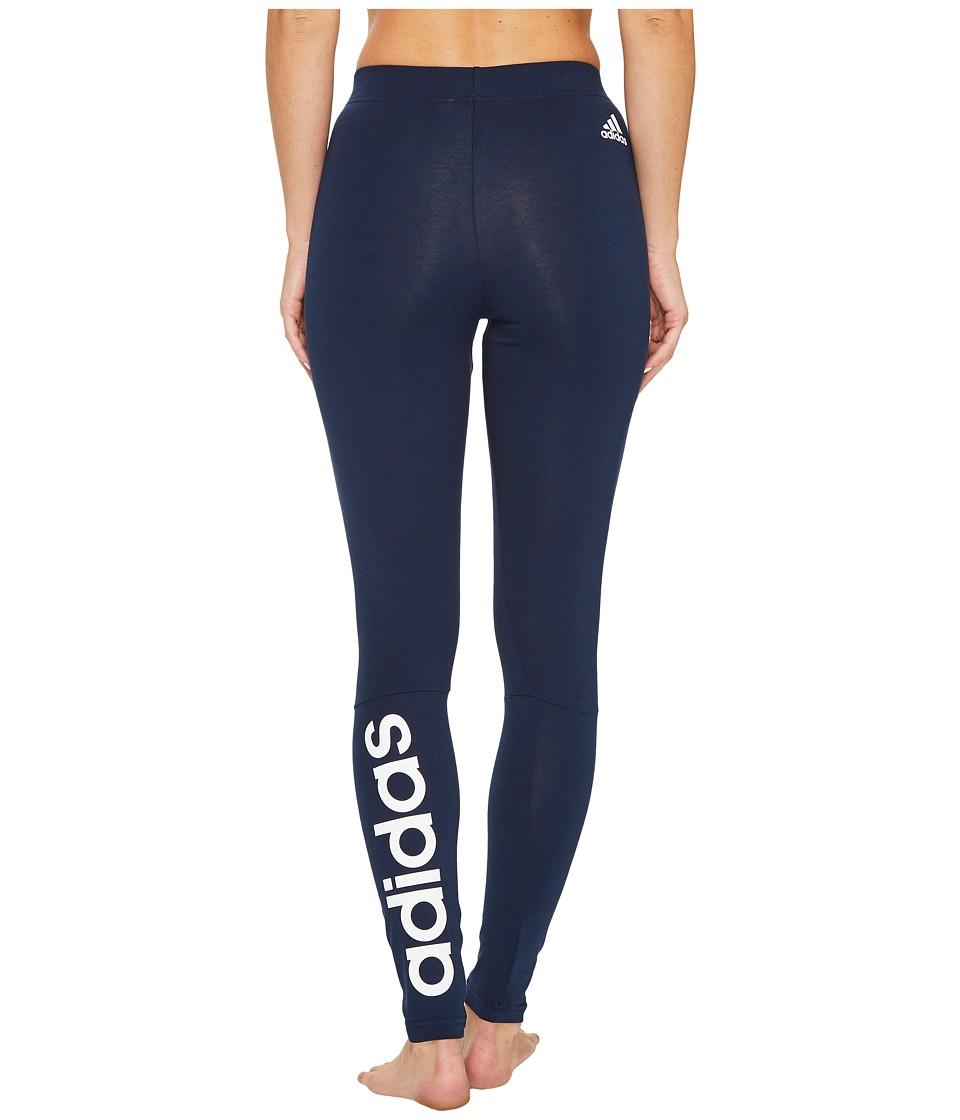 adidas Essentials Linear Tights (Collegiate Navy/White) Women