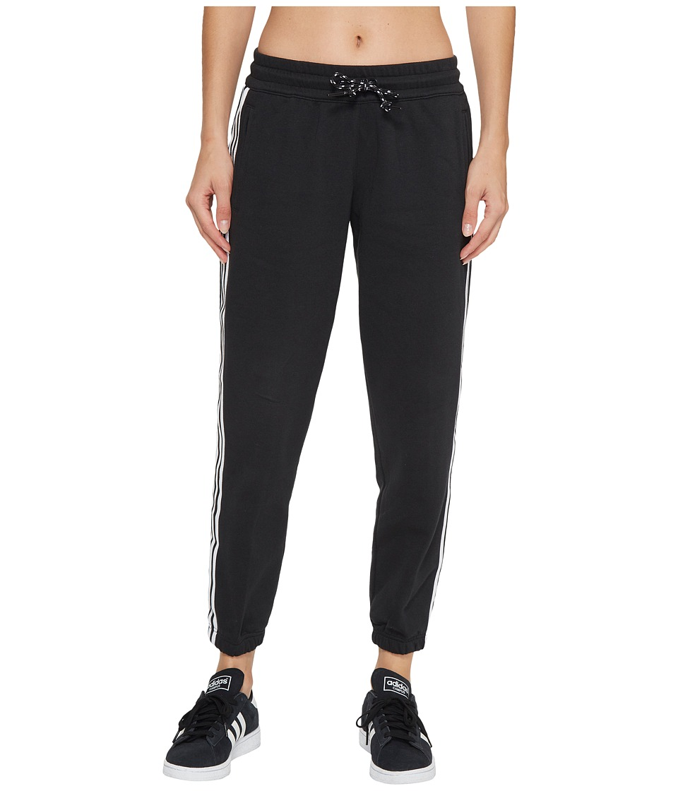 adidas - 3-Stripes Tapered 7/8 Pants (Black) Women's Casual Pants