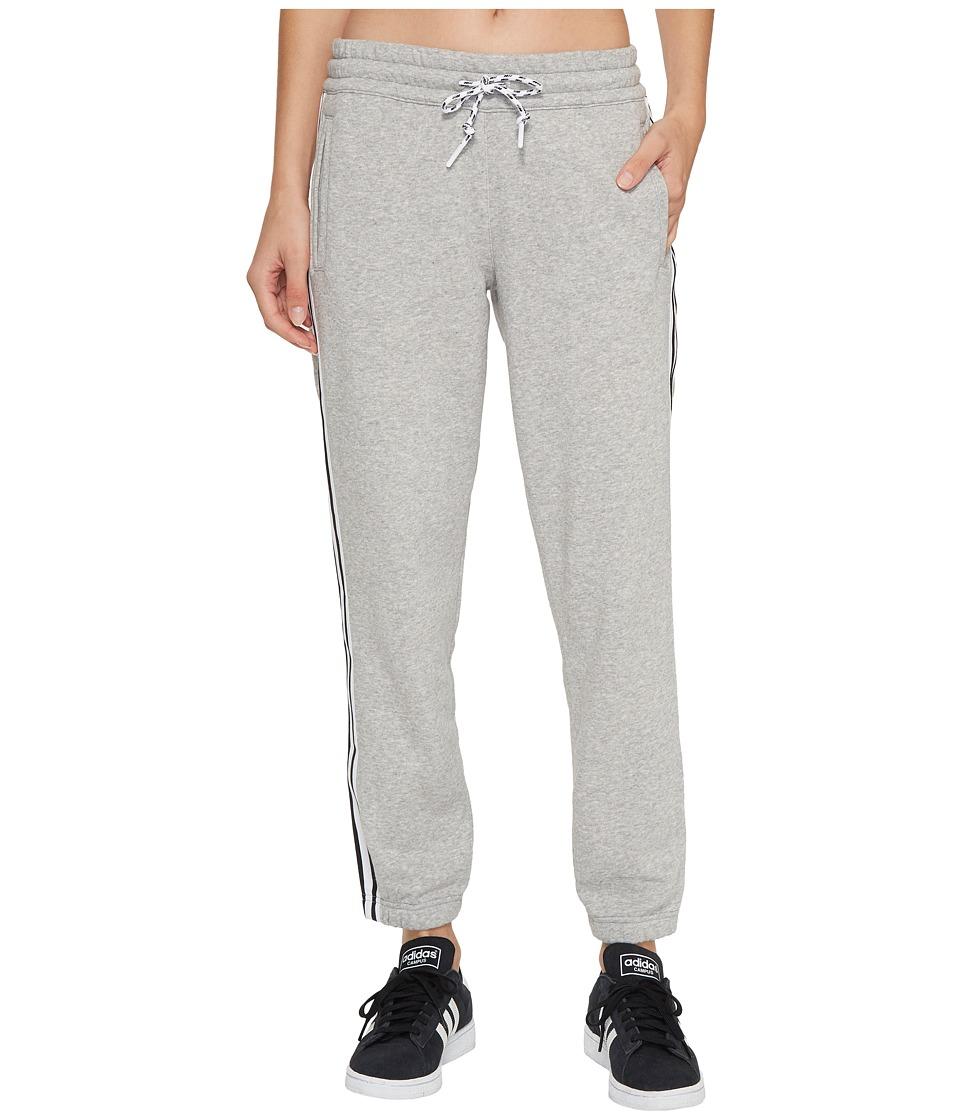 adidas - 3-Stripes Tapered 7/8 Pants (Medium Grey Heather) Women's Casual Pants