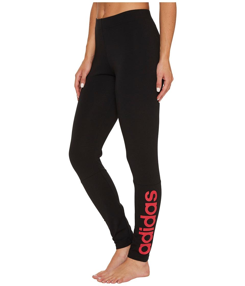 adidas Essentials Linear Tights (Black/Energy Pink F17) Women