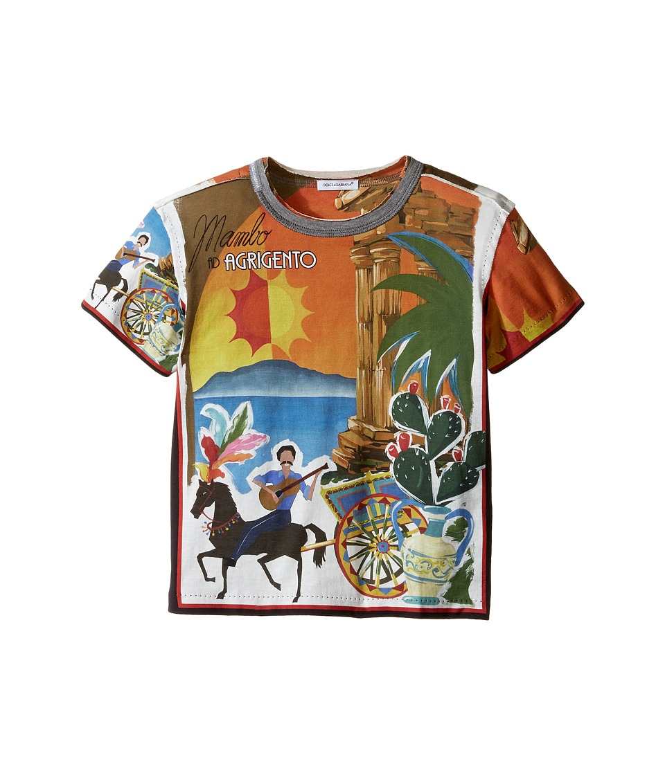Dolce & Gabbana Kids - Agrigento T-Shirt (Toddler/Little Kids) (Multi Print) Boy's T Shirt