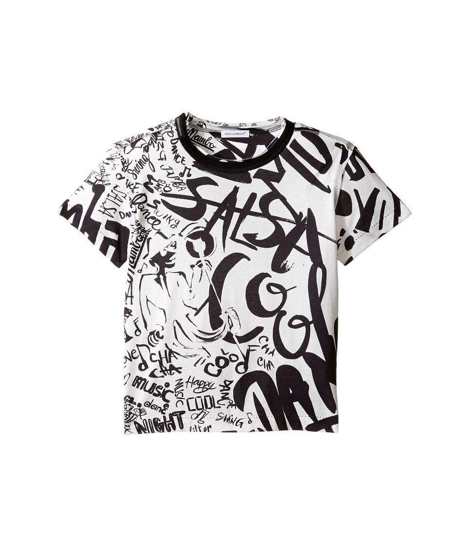 Dolce & Gabbana Kids - Salsa Tee (Toddler/Little Kids) (White Print) Boy's T Shirt