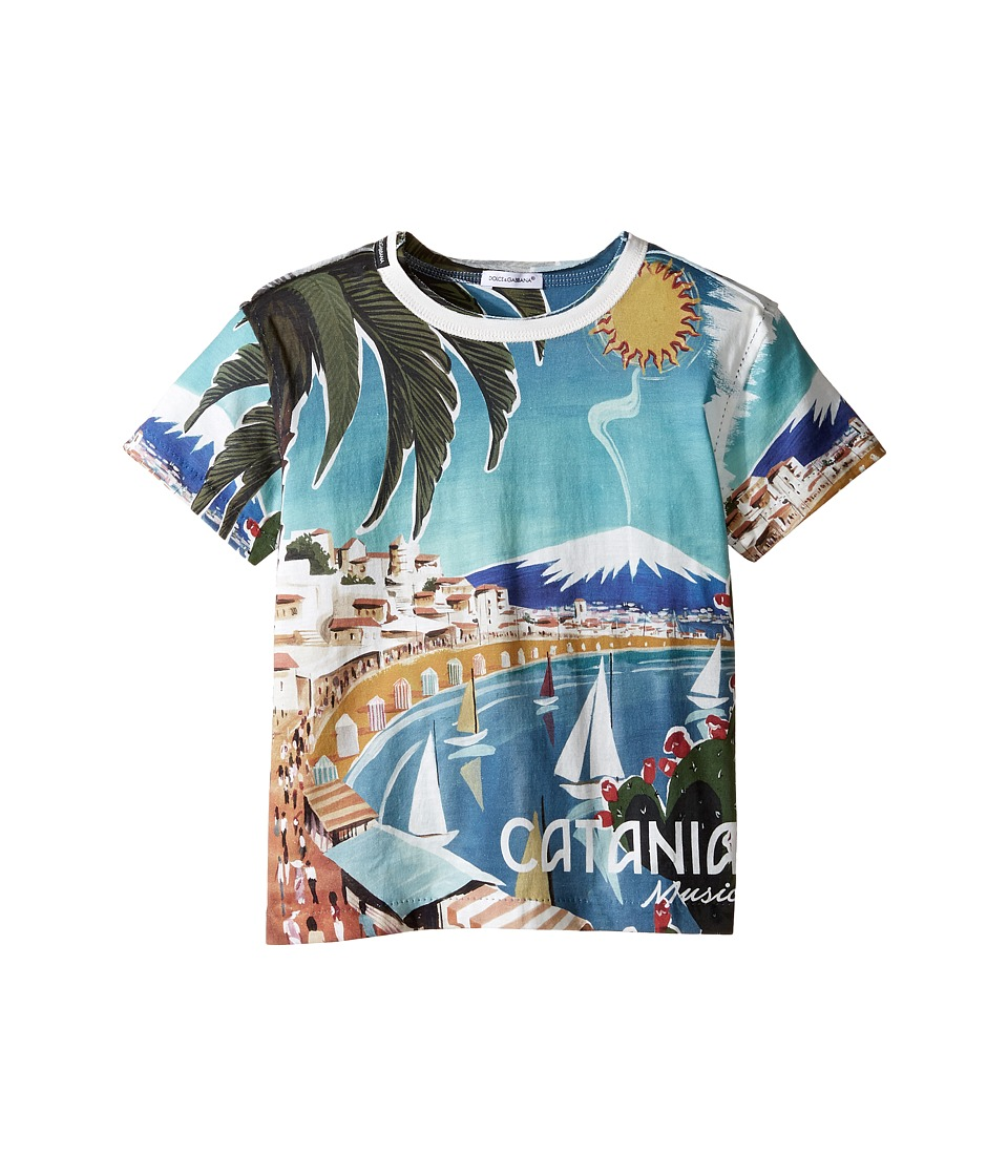 Dolce & Gabbana Kids - Catania T-Shirt (Toddler/Little Kids) (Blue Print) Boy's T Shirt