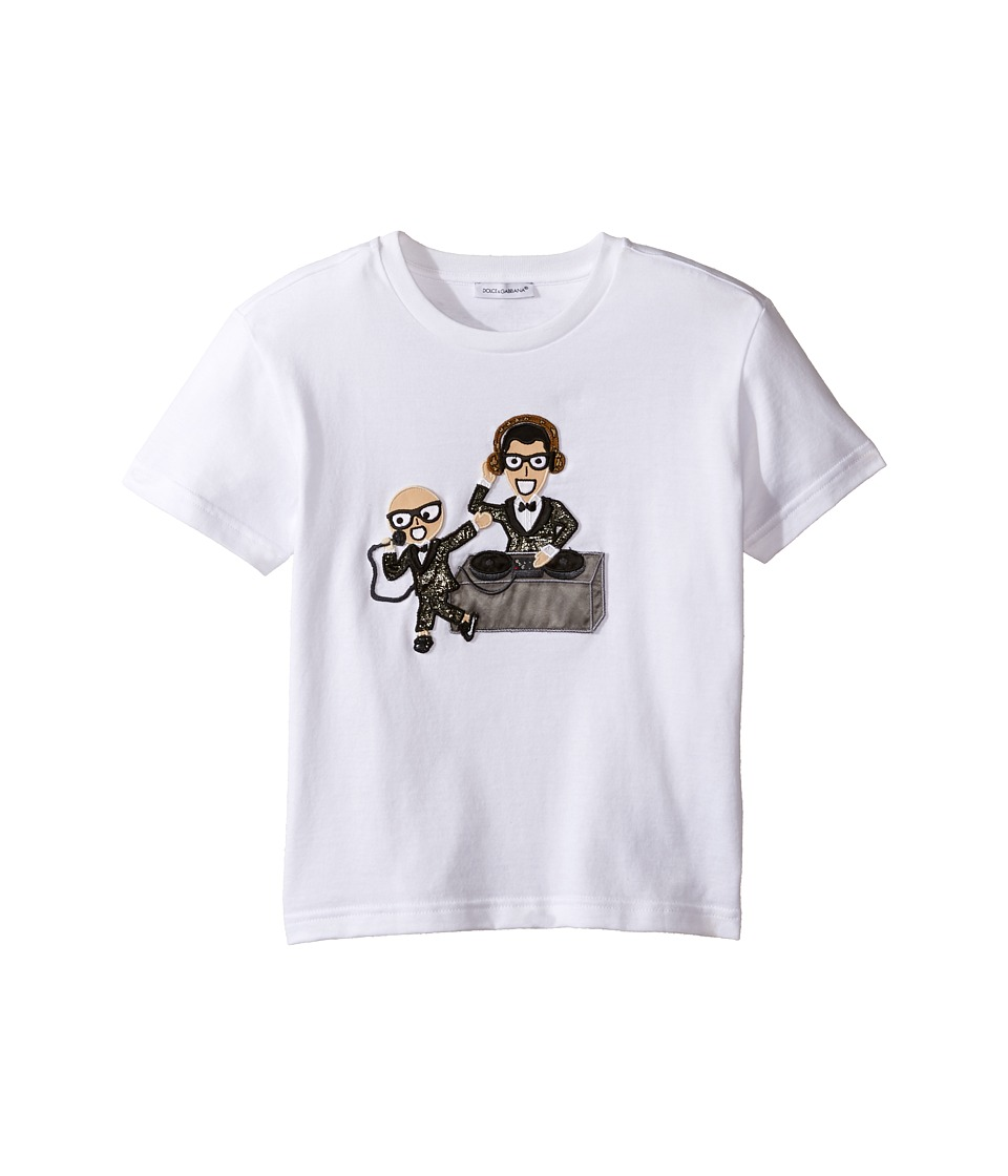 Dolce & Gabbana Kids - Designers Tee (Toddler/Little Kids) (White Print) Boy's T Shirt