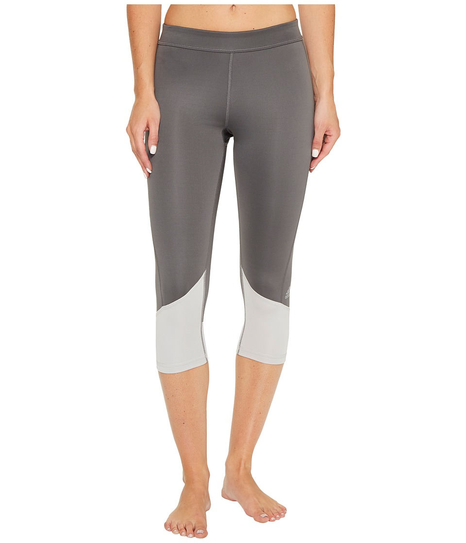 adidas Techfit Capris (Grey Five F17/Grey Two F17) Women