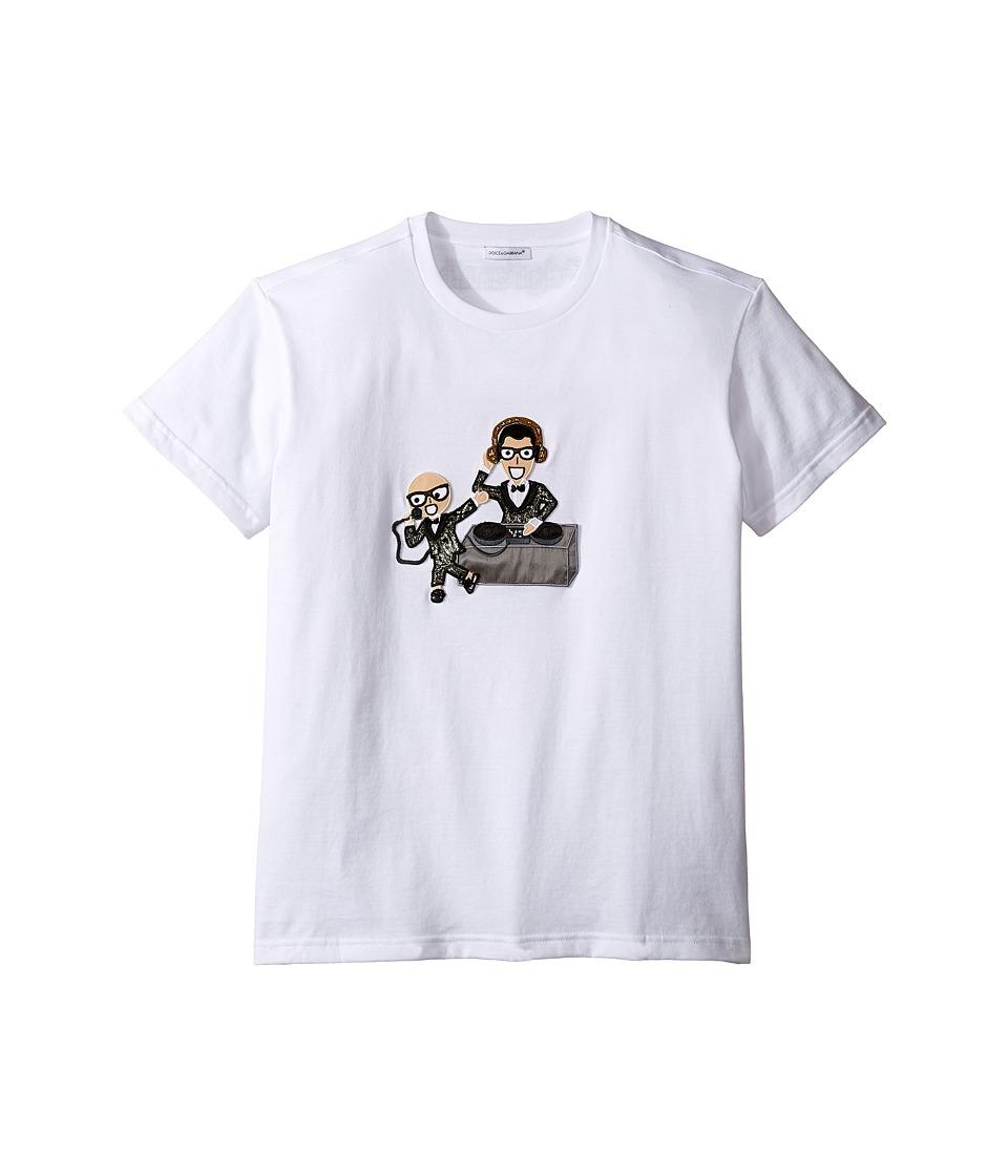 Dolce & Gabbana Kids - Designers Tee (Big Kids) (White Print) Boy's T Shirt
