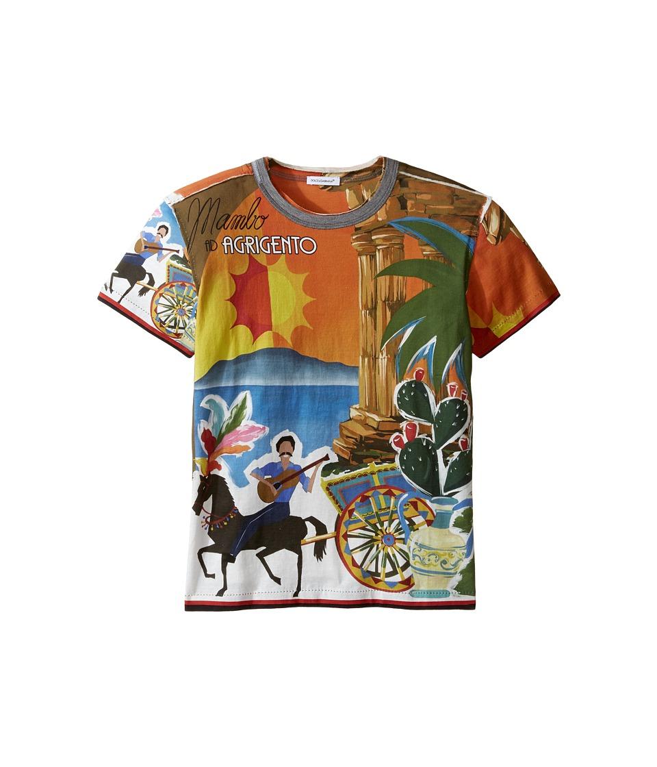 Dolce & Gabbana Kids - Agrigento T-Shirt (Big Kids) (Multi Print) Boy's T Shirt