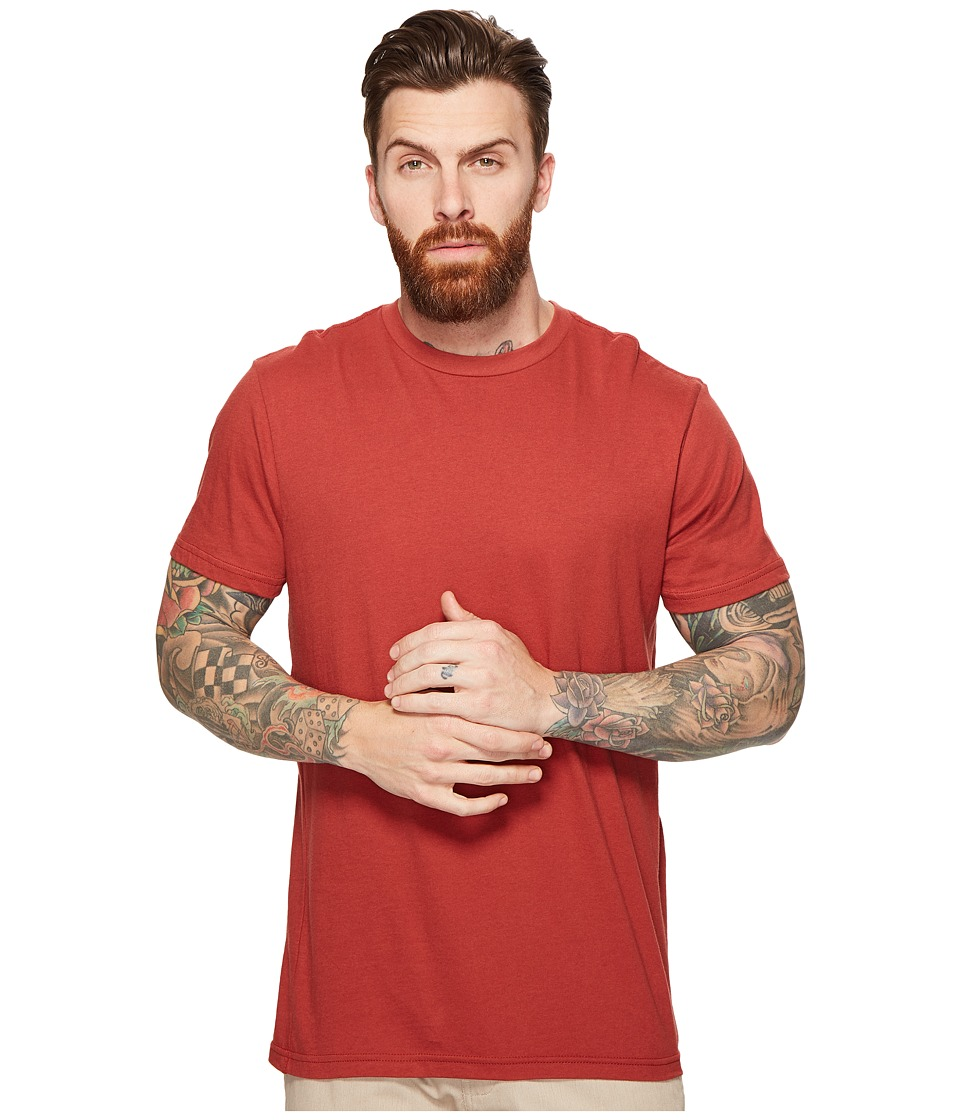 RVCA - Label Vintage Wash Tee (Rosewood) Men's T Shirt
